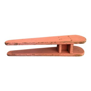 Primitive Pink Ironing Board For Sale