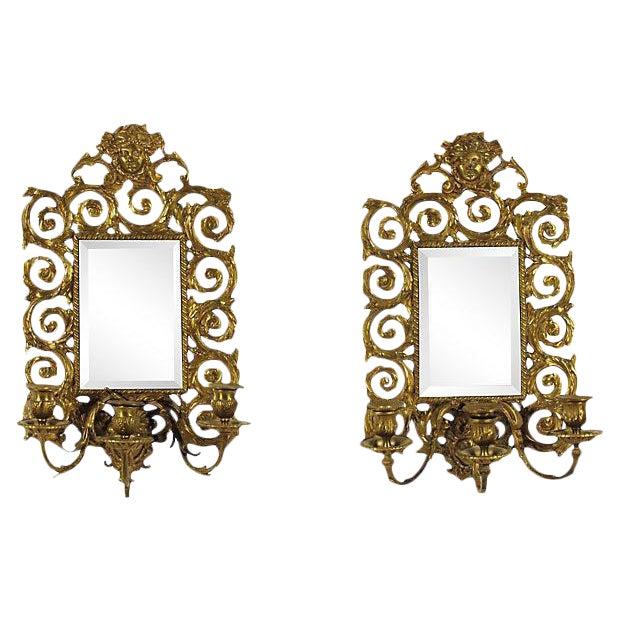 Baroque-Style Girandole Mirrors - A Pair - Image 1 of 4