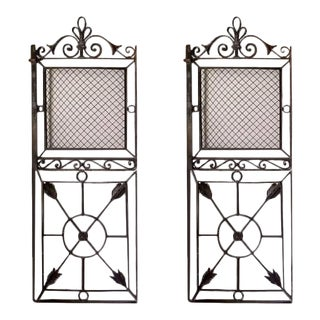 19th Century French Iron Gates - a Pair For Sale