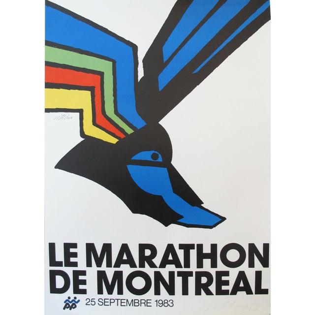 1983 Montreal Marathon Poster, Vittorio For Sale