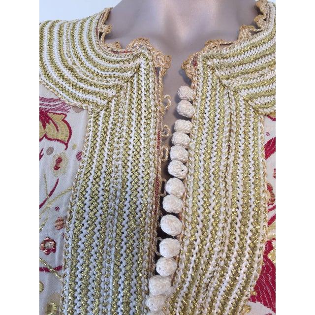 Metal 1970s Metallic Brocade Moroccan Caftan, Kaftan Maxi Dress For Sale - Image 7 of 10