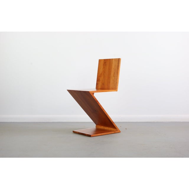 1960s Inspired Vintage Chair Originally Designed by Gerrit Rietveld Called the Zig-Zag Chair For Sale - Image 5 of 7
