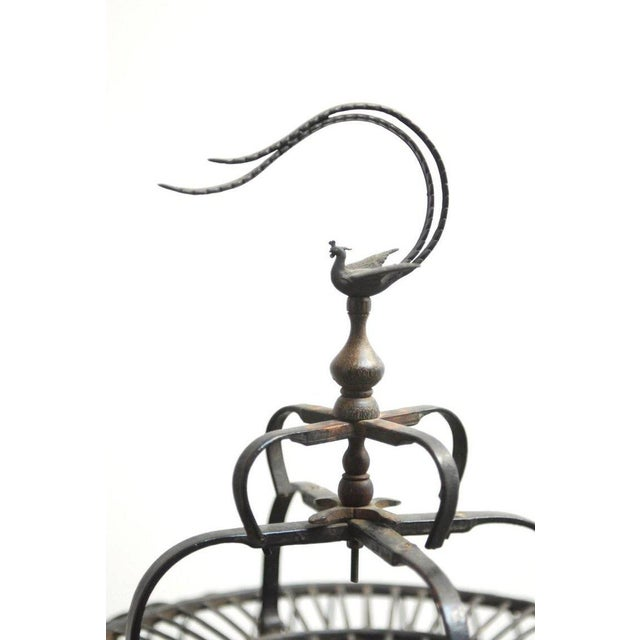 Art Deco Antique Chinese Domed Bamboo Bird Cage For Sale - Image 3 of 11