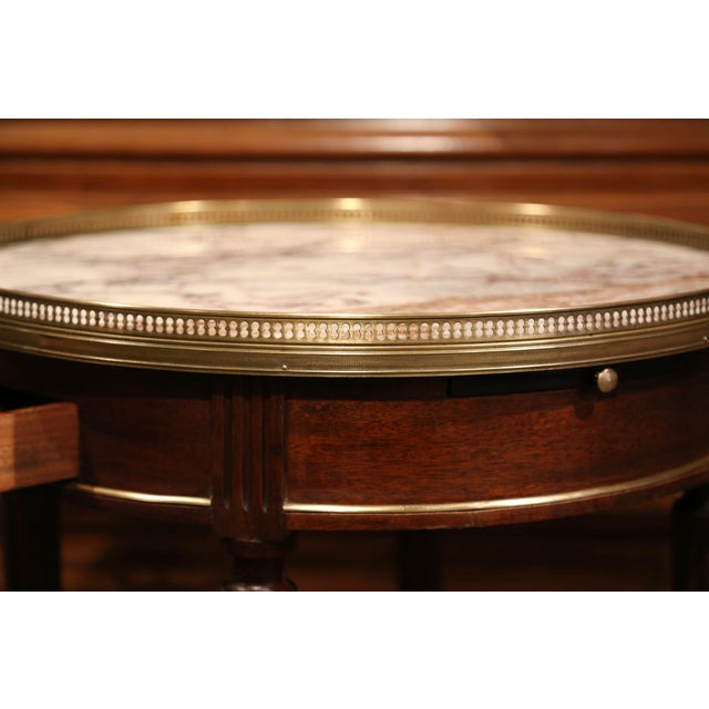 Early 20th Century French Louis XVI Round Bouillotte Table with Marble Top - Image 9 of 10