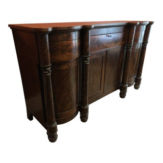 19th Century Empire Flame Mahogany Sideboard For Sale