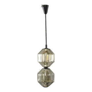 Vistosi Double Vessel Amber Glass Lantern For Sale