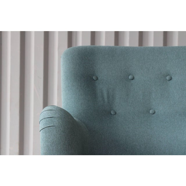Ernest Race Dark Teal Armchair by Ernest Race, England, 1940s For Sale - Image 4 of 12