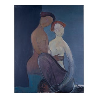 Women Embracing Oil Painting For Sale