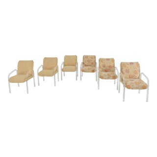 Set of Six Leon Rosen for Pace Collection Lucite Dining Chairs For Sale