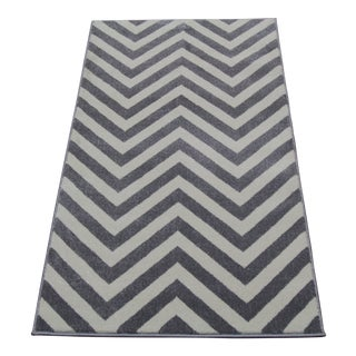 "Gray Chevron Rug - 6'8"" x 10'"