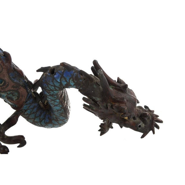 "Chinese Antique 17"" Cloisonne Dragon Figure - Image 7 of 9"