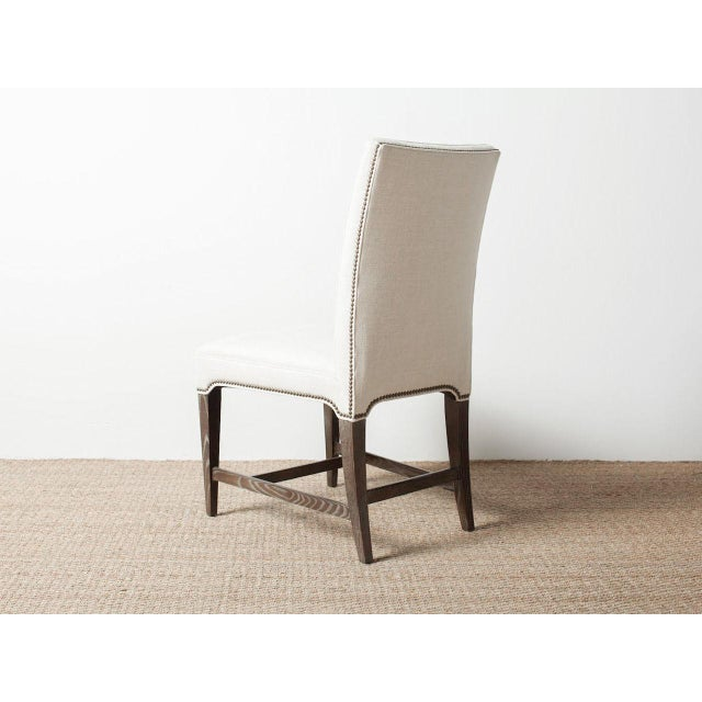 Mid-Century Modern Claeys White Upholstered Chair For Sale - Image 3 of 6