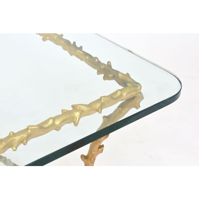 French Modern Gilt Bronze Low Table, Attributed to Maison Baguès For Sale In Miami - Image 6 of 10