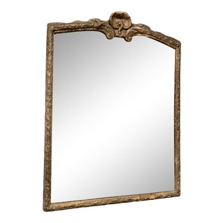 Antique Mirror With Ornate Wood Frame For Sale