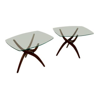 Mid-Century Modern Adrian Pearsall Style Forest Wilson End Tables - a Pair