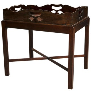 Mahogany Butlers Tray Table, Late 19th C., England For Sale