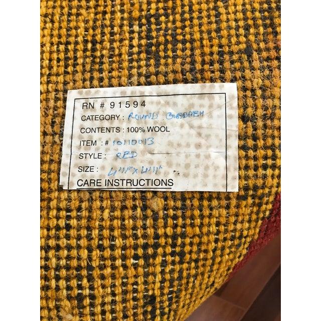 "Vintage Wool Safavieh Rug - 4'11"" x 4'11"" For Sale In Tampa - Image 6 of 7"