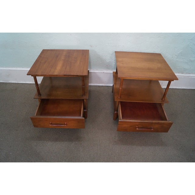 Heritage Henredon Mid Century End Tables - Image 2 of 10