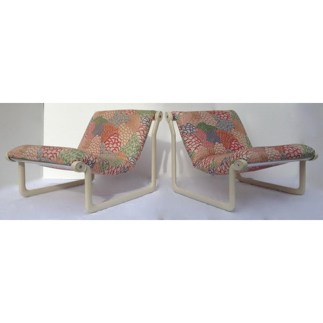1970s Knoll Sling Lounge Chairs by Hannah & Morrison - A Pair - Image 2 of 11