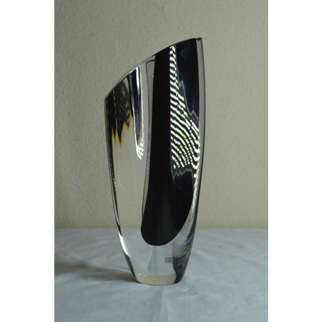 "1980s Vintage Kosta Boda ""Saraband"" Swedish Art Glass Vase For Sale In Austin - Image 6 of 11"