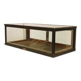Antique Carved Wood Tabletop Display Showcase