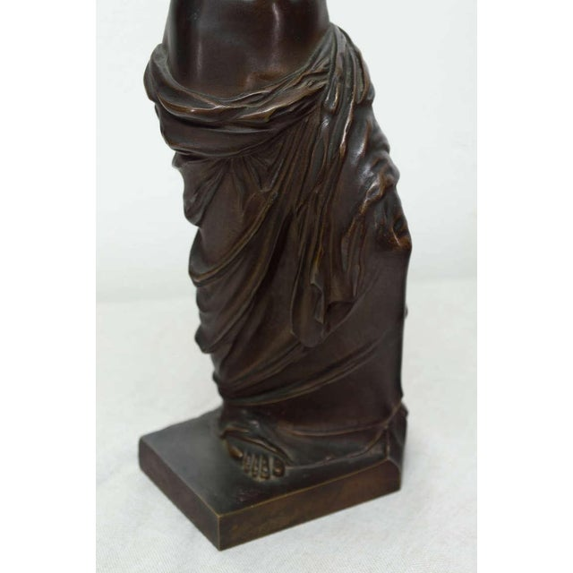 Metal Late 19th Century French Bronze Signed Collas, Musee Du Louvre For Sale - Image 7 of 11