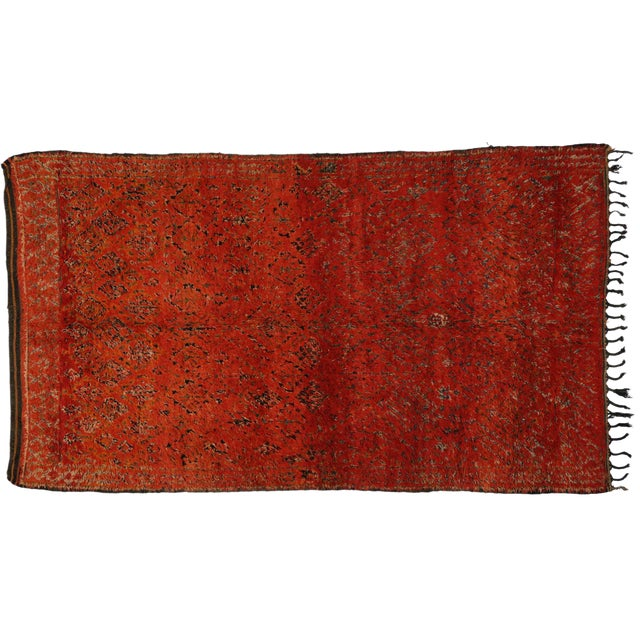 Berber Moroccan Rug with Tribal Flair -- 6'8 x 11'6 - Image 1 of 3