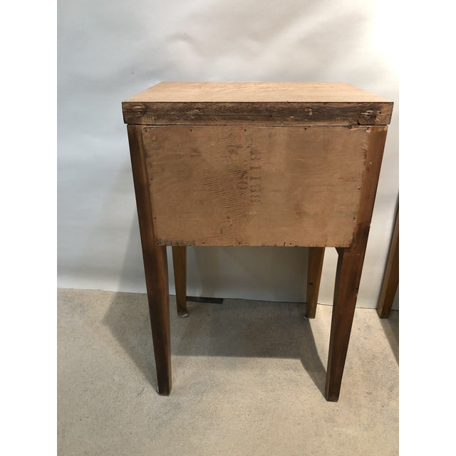 Wood Mid Century Tiger Maple Night Stands - a Pair For Sale - Image 7 of 10