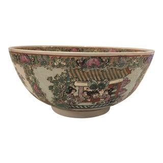 Large Rose Medallion Bowl For Sale
