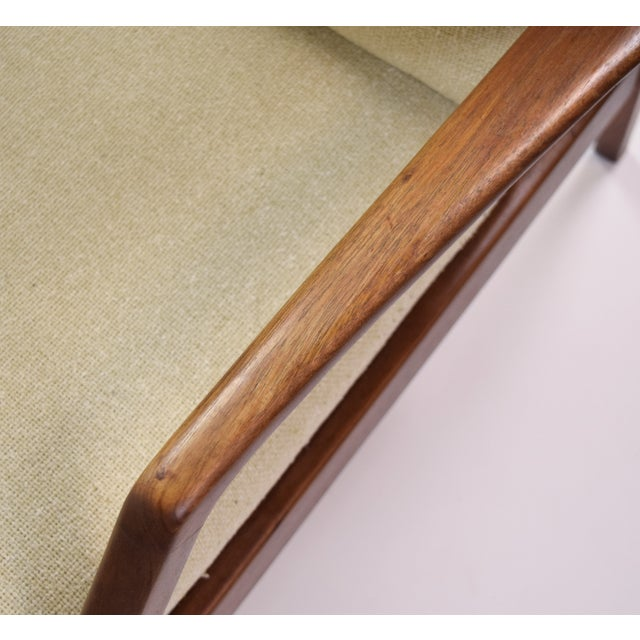 Brown Vintage Ib Kofod Larsen Style Danish Modern Lounge Armchairs - a Pair For Sale - Image 8 of 9