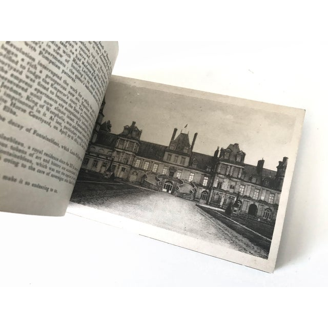 Gold French Chateau De Fontainbleau Souvenir Postcard Book For Sale - Image 8 of 11