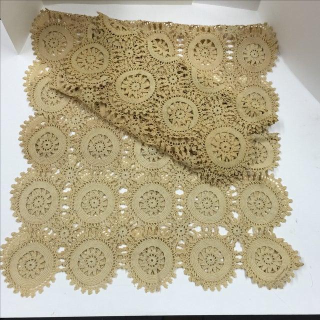 Vintage Handmade Crocheted Runners - A Pair - Image 2 of 6