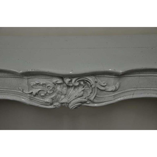 White -Unique - 19th c. Porcelain French Rococo Fireplace For Sale - Image 8 of 11