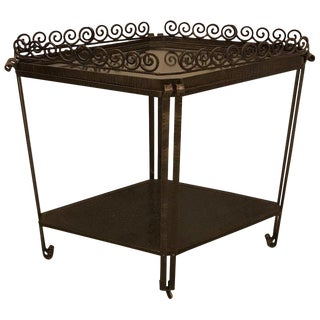 French Art Deco Diamond Accent Table or Cart For Sale