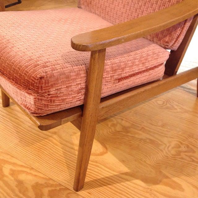 Vintage Mid-Century Oak & Burnt Orange Arm Chair - Image 6 of 9