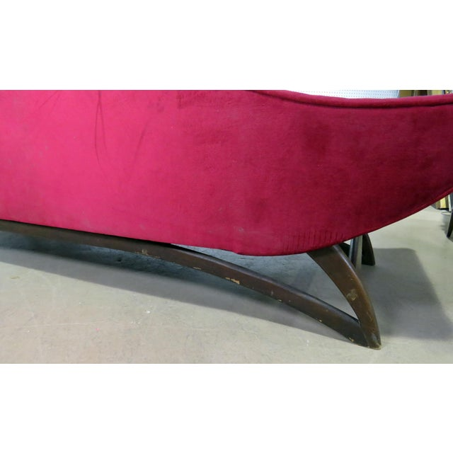 Adrian Pearsall Gondola Style Upholstered Sofa For Sale - Image 9 of 12