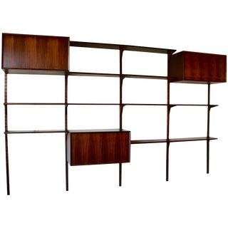 1958 Danish Rosewood Cado Wall Unit by Poul Cadovius For Sale