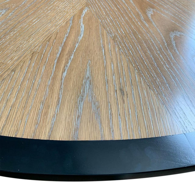 Early 21st Century Cerused Oak Dining Table For Sale - Image 5 of 7