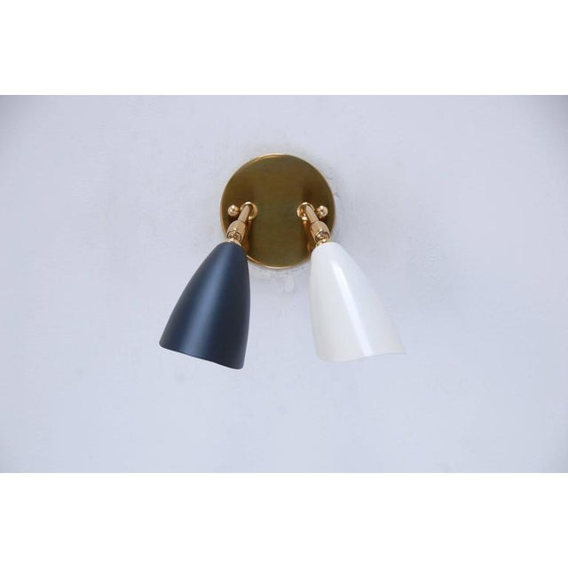 1950s Double Shaded Spot Light Sconces - Image 5 of 10