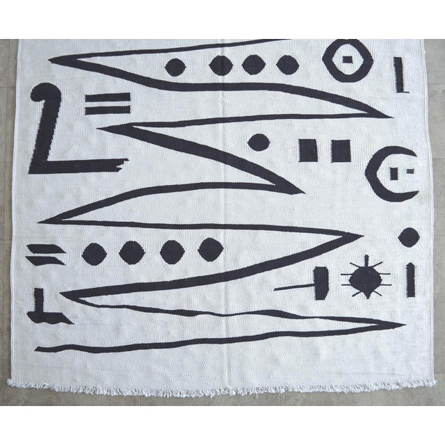 Paul Klee - Heroic Strokes of the Bow - Inspired Silk Hand Woven Area - Wall Rug 5′ × 6′9″ For Sale In Raleigh - Image 6 of 11