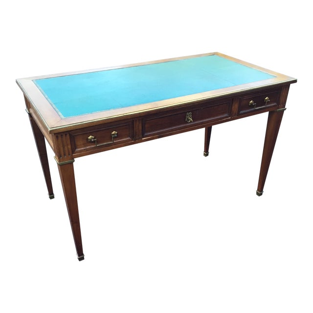 Antique Regency Leather Top Writing Desk - Image 1 of 9