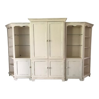 Cottage Style Entertainment Center Wall Unit