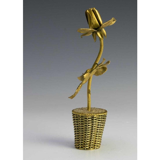 Figurative Tiffany Gilt Sterling Sculpture by Janna De Velarde For Sale - Image 3 of 5