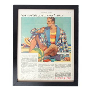 "Framed Listerine Advertisement From ""Ladies' Home Journal,"" July 1929 For Sale"