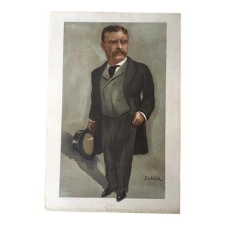 Antique Vanity Fair 1902 Theodore (Teddy) Roosevelt Portrait
