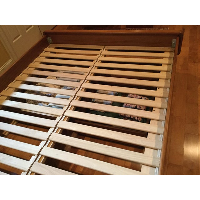 Teak Queen Bed Frame - Image 8 of 11
