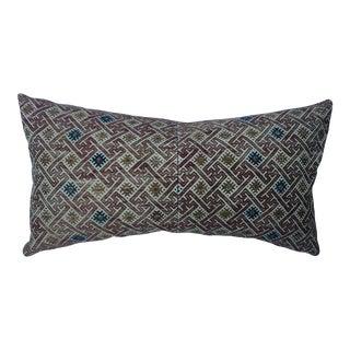 Antique Chinese Silk Wedding Quilt Pillow