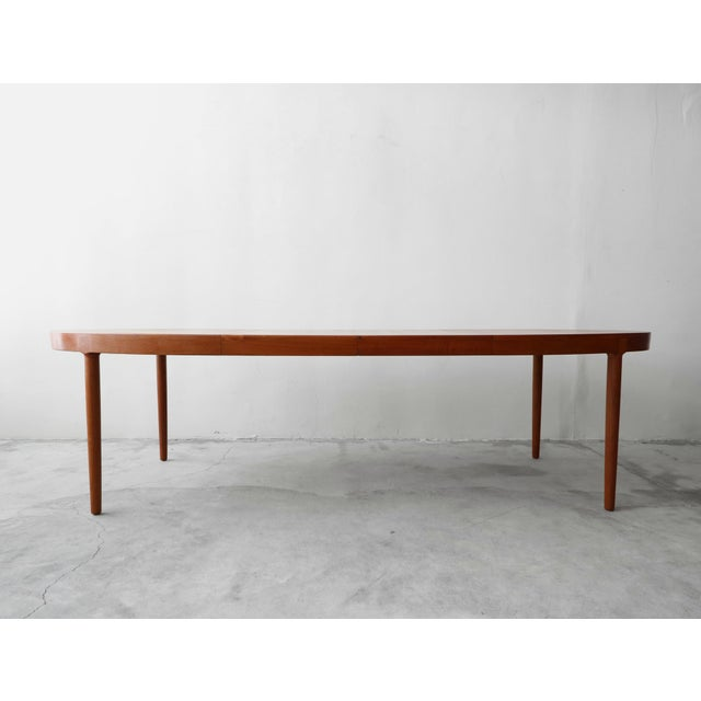 Harry Ostergaard Mid Century Danish Teak Oval Dining Table by Harry Ostergaard for A/S Randers For Sale - Image 4 of 11