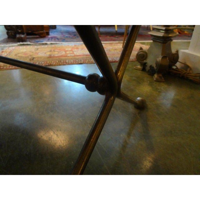 1940s 1940's Vintage French Maison Bagues Style Bronze and Mirrored Coffee Table For Sale - Image 5 of 10
