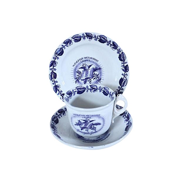 19th-C. Methodist Transferware Set - C.1850 For Sale